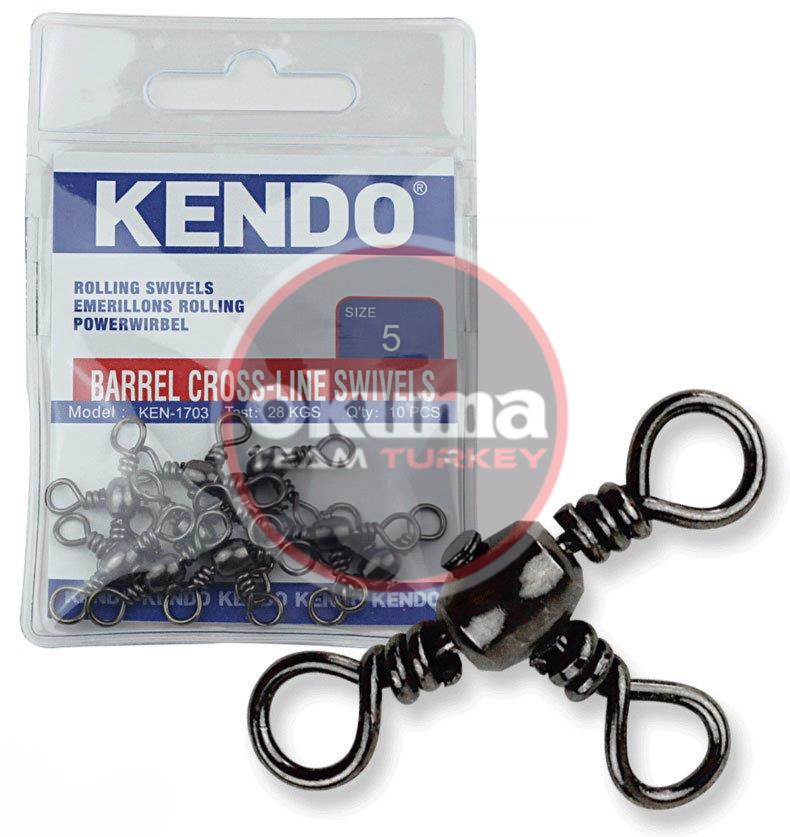 Kendo Barrel Cross-Line Swivels 10 Adet