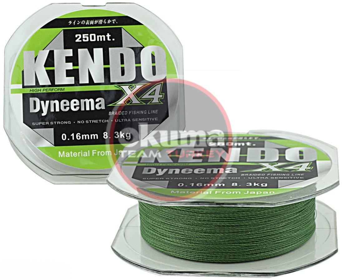 Kendo Dynema 4 Örgü 250Mt (Green)