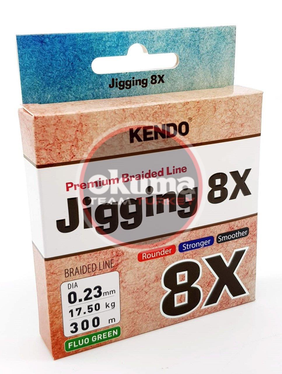 Kendo Jigging 8X Flash 300 mt Örgü İp (FLUO GREEN)