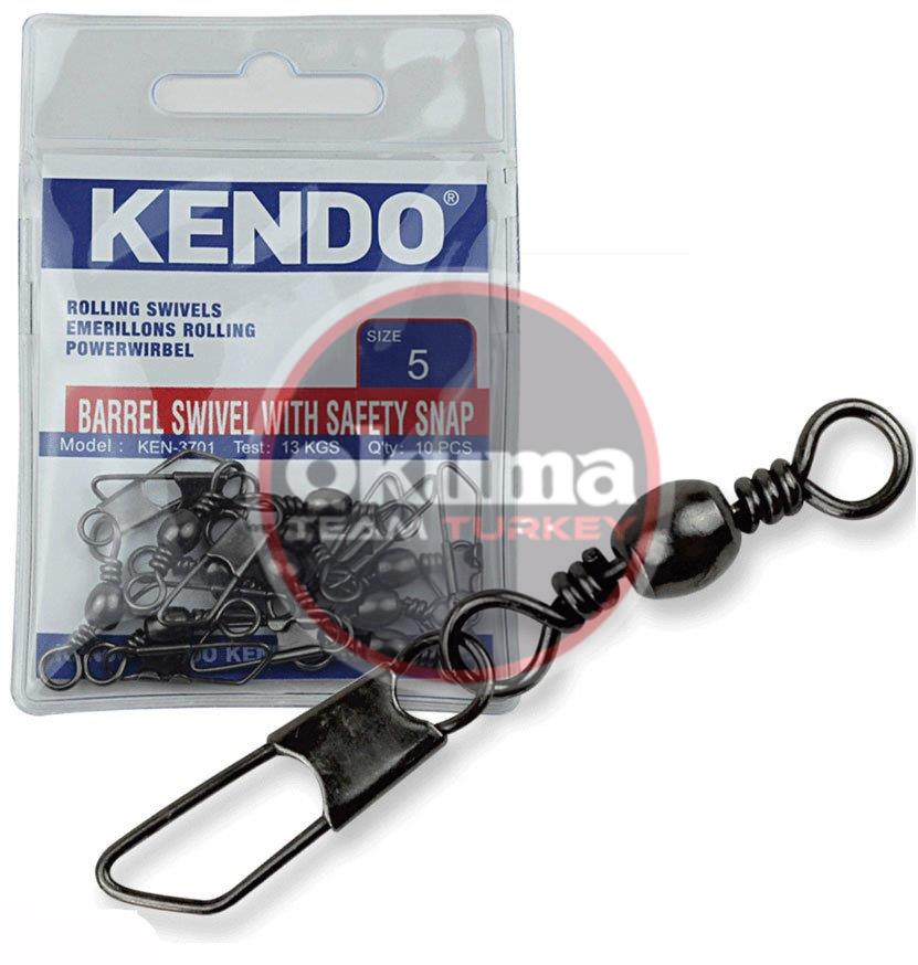 Kendo Rolling Swivel Safety Snap Snap 10 Adet (Düz Klips)