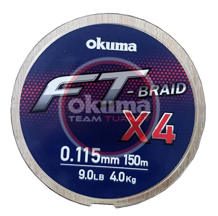 Okuma Ft-*4 Braided Line 150 mt Grey Örgü İp
