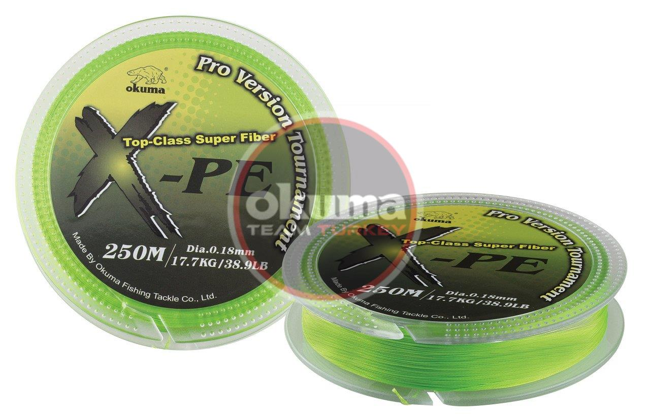 Okuma X-PE Dynema 8 Kat 250 mt Green Örgü İp