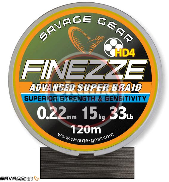 Savage gear Finesse HD4 Braid 300 m 0,19 mm 28 lbs 12,8 kg Grey Örgü İp