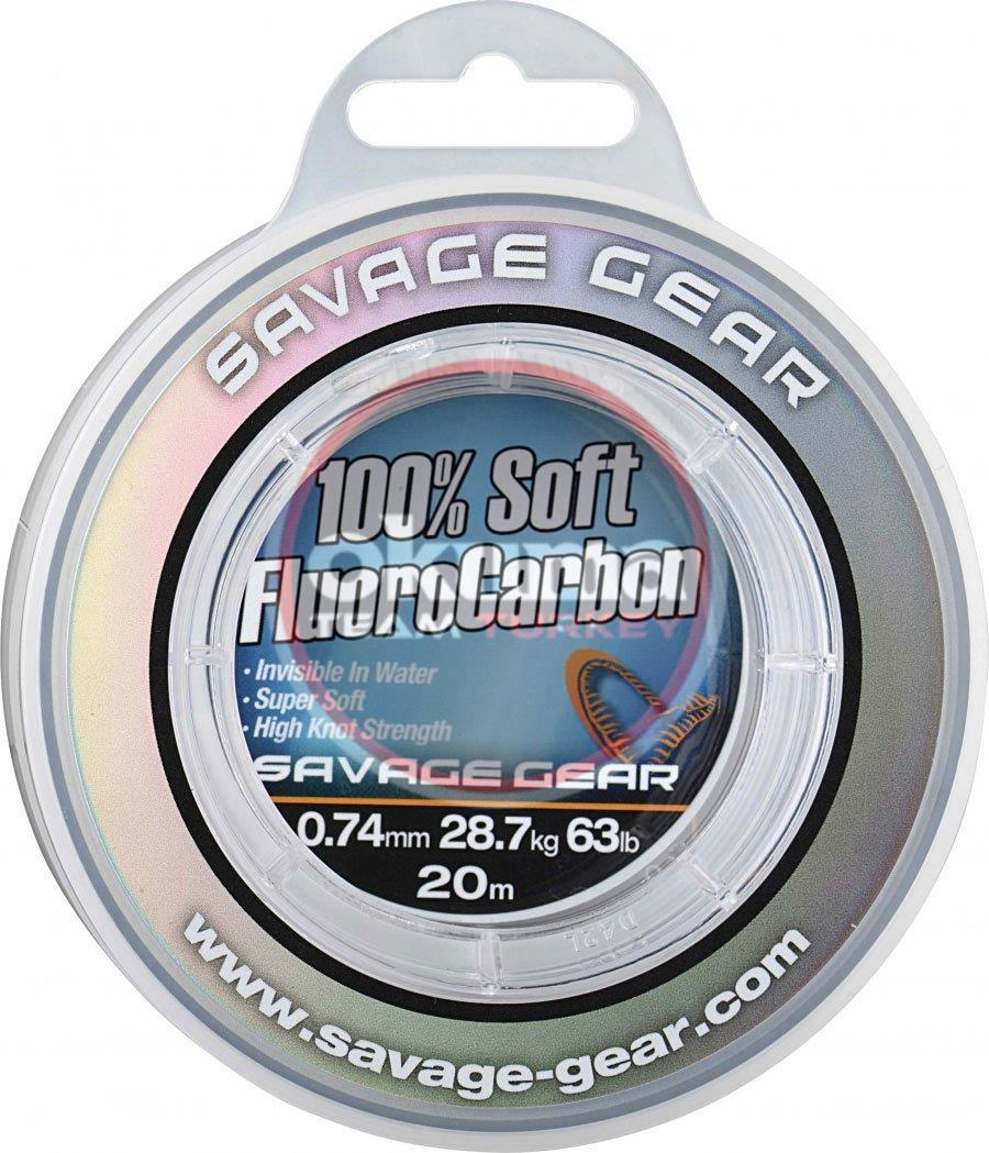 Savage gear Soft Fluoro Carbon 0,74 mm 20 m 28.7 kg 63 lb Misina